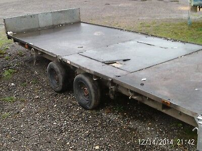Ifor williams 16ft approx twin wheel trailer, recovery trailer car transporter