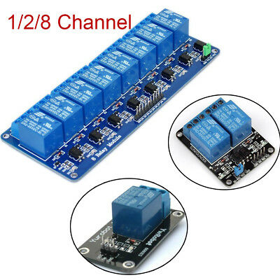 New 5V 1/2/8 Channel Relay Board Module Optocoupler LED for Arduino PiC ARM AVR