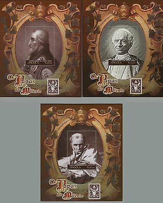 Angola 2000 - Popes portraits - set of 3 S/S MNH Sc#1162-1164