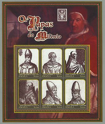Angola 2000 - Popes portraits - set of 3 mini sheets MNH Sc#1159-1161