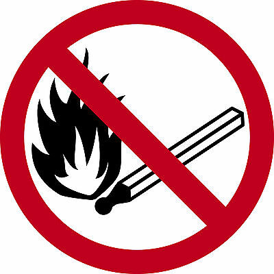 Pictogramme ISO 7010 INTERDIT-flamme