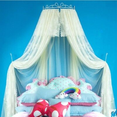 Double Size Yellow Lace Ceiling Mosquito Net BeddingBed Curtain Netting Canopy *