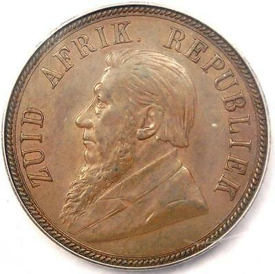 1894 South Africa Zar Penny 1D - PCGS AU58 - Rare Certified Coin!