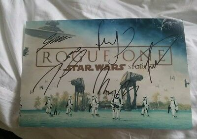 Signed Rogue One Star Wars Photo