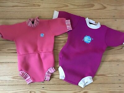 Two Splash About Swim Nappy Wetsuits Medium And Extra Large