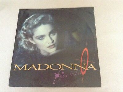 """Madonna live to tell single 12"""" lp 1986"""