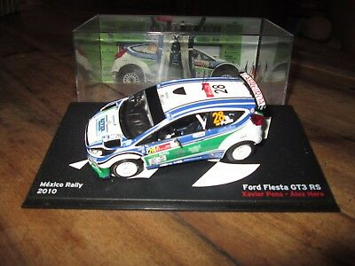 voiture 1:43 rallye - Ford Fiesta GT3 RS - Rally Mexico 2010 - altaya