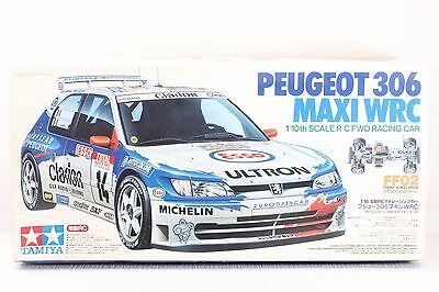 Tamiya 1/10 Scale  RC PEUGEOT 306 MAXI WRC FF02 FWD CHASSIS #58224 NEW