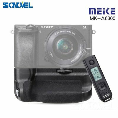 Meike MK-A6300 PRO Battery Grip Holder Builtin Remote Control for Sony A6300 A60
