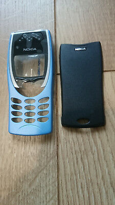 New Nokia 8210 Front Fascia & Back Cover Light Blue & Black
