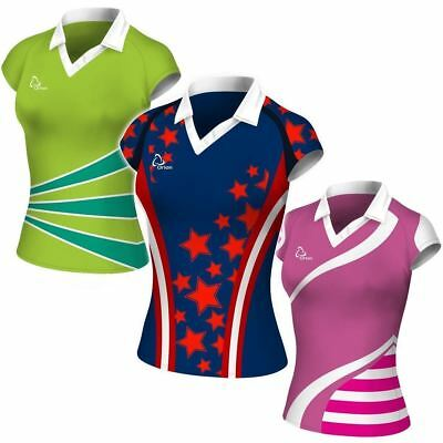 Sublimated Junior Netball Team Tops - 10 tops.  Many designs & colour combos.
