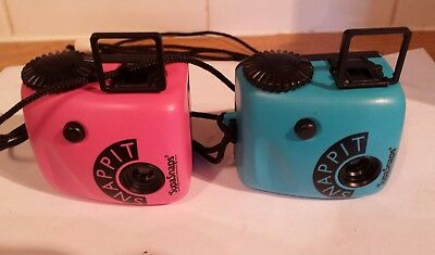 SUPASNAPS  SNAPPIT CAMERA ( X 2) Blue And Pink. - 126 Film - 1980s..