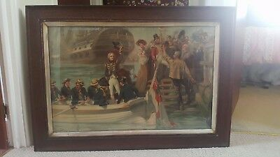 Goodbye My Lads - Nelson Leaving Portsmouth Lithograph