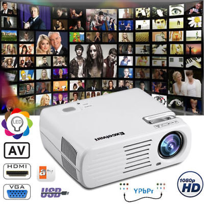 4500 Lumens 1080 3D Led Projecteur Home Cinéma 5000:1 Av/hdmi/atv/vga Multimedia