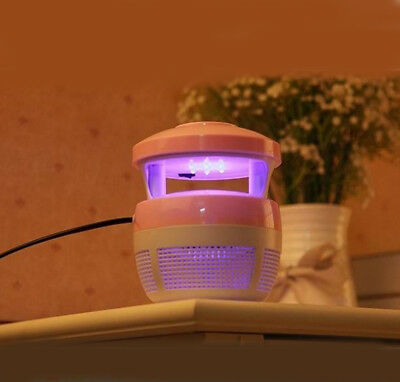 Pink Domestic Electric Mosquito Fly Bug Insect Pest Repellent Killer Trap Lamp *