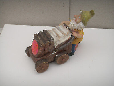 """new  """"GNOME ON CART """"  Latex Rubber Mould and fibreglass jacket"""