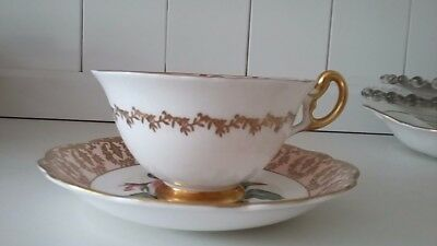 Pretty Vintage E B Foley 1850 Footed Tea Set Cup And Saucer.