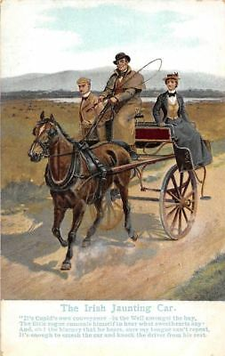 "The Irish Jaunting Car ""It's Cupid's own conveyance"" Horse Carriage, Cart"