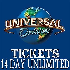 Universal Orlando Discounted Tickets 3 Park - Park to Park - 14 Days Unlimited