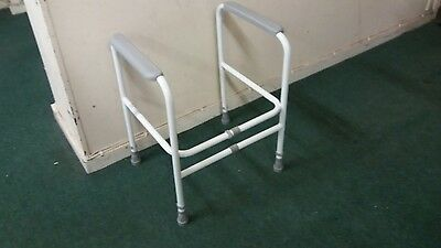 Toilet Frame, free standing, height and width adjustable.