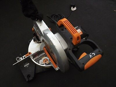 Evolution Chop Saw Mitre Saw Portable Blade Included Circular Saw Cutter wood