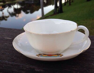 W H Goss Crestware MAIDSTONE Crest Cup and Saucer Excellent Condition