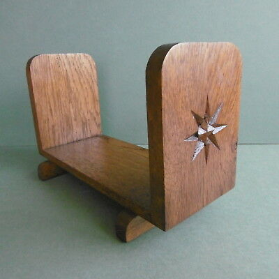 STUNNING Orig VINTAGE Art Deco TABLE-DESK TOP Oak 'Starburst' BOOK CASE....c1930