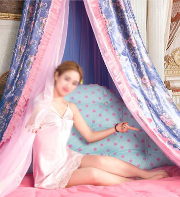 Double Size Purple Ceiling Mosquito Net Bedding Bed Curtain Netting Canopy *