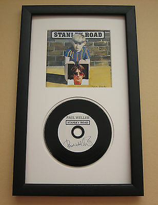 PAUL WELLER Stanley Road FRAMED CD Disc Presentation