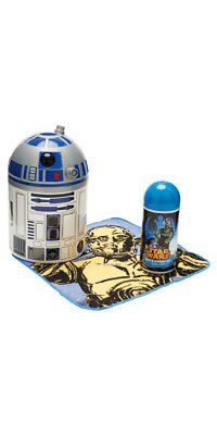 Star Wars R2-D2 Bathroom Tidy w/ C-3PO Flannel & Shower Gel Gift Set (Grosvenor)