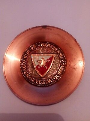 1991 European Cup Final - Red Star Belgrade  Olympique VERY UNIQUE BRONZE PLATE