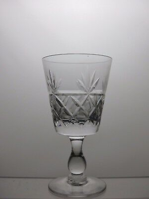 "Royal Brierley Crystal Clear ""bruce"" Pattern Wine Glasse 1 Pcs"