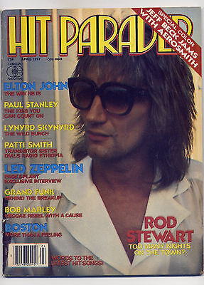 Hit Parader #153 Magazine April 1977 ~ SKYNARD BOB MARLEY KISS LED ZEPPELIN