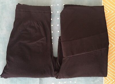 Two Pairs High Waisted Maternity Tights Size 14 Pumpkin Patch Target EUC