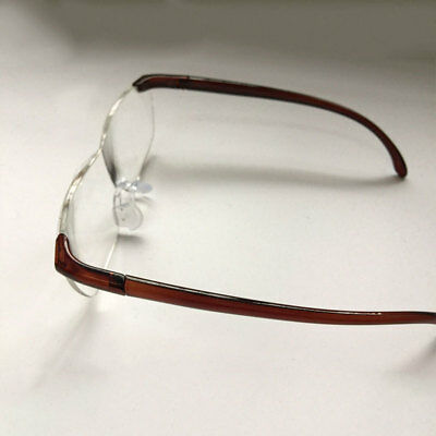 Unisex Pro Big Vision 160% Magnification Reading Glasses Clearer Glasses Brown