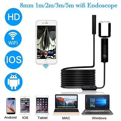 5M 8mm Android Endoscope Waterproof Snake Borescope USB Inspection Camera IL