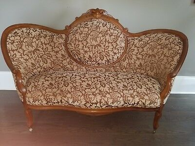 19th Century Loveseat Settee - Antique Victorian Queen Anne Style EXCELLENT COND