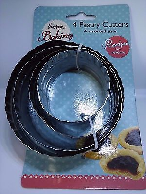 Home Baking Double Edged Biscuit/Pastry Cutters x 2 sets