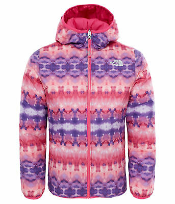 The North Face Girls Reversible Perrito Jacket - Warm Insulated Jacket - Pink