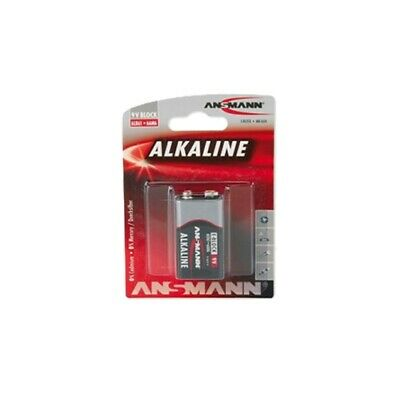 Pile Rectangle Lr6 6Lr61 / E Alcaline 550 Mah - 9V Ansmann - Blister 1 Pile