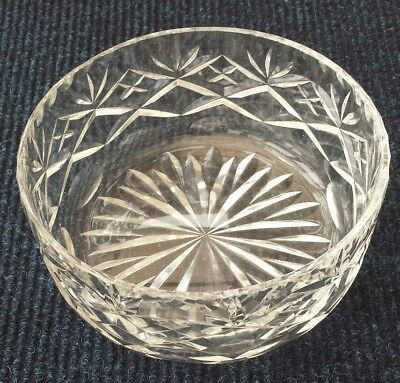 Royal Doulton Georgian crystal bowl 6 inch