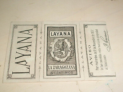 Layana papier Cigarette Vintage Smoking Rolling Papers CIRCA 1890,s