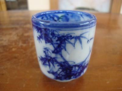 Good Antique Chinese Porcelain Hand Painted Calligraphy Pot.