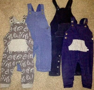 4 X Pairs Boys Dungarees bundle 9-12 Months Next M&S George F&F