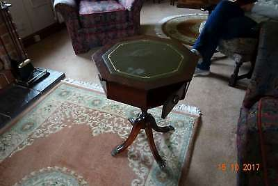 wooden octagonal side table