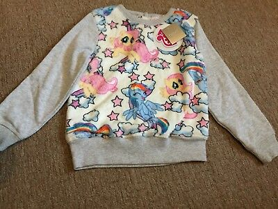 Girls My Little Pony NEXT Fluffy Jumper Sweater Age 4-5 Years BNWT
