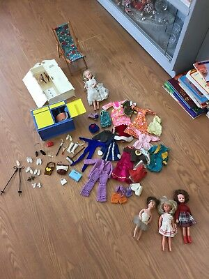 Vintage Sindy Doll And Friends With Accessories