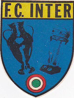 Calcio-Football Scudetto di stoffa del F.C. INTER Milano 1964/1965 cloth badge