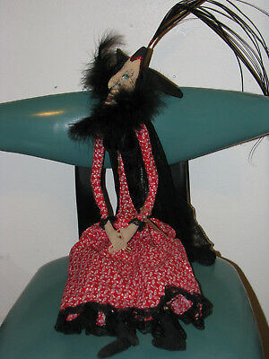 "37"" The Countess Vampire Lady Joe Spencer Halloween Doll Bat Goth Dracula"
