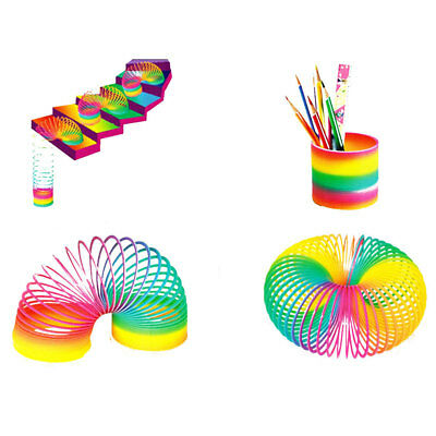 Rainbow Spring Ring ABS Developmental Educational Jumping Large Size Slinky